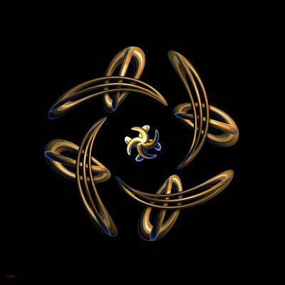 Atom Mixed Media - Abstract Harmony by Tyler Robbins