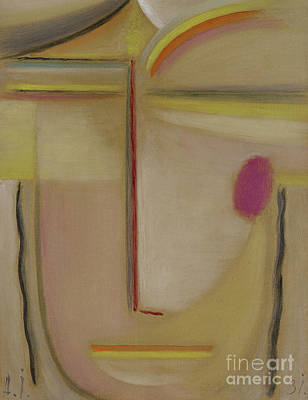Jawlensky Painting - Abstract Head  Gold And Pink, 1931 by Alexej von Jawlensky