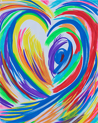 Painting - Abstract Heart 1 by Sacha Hope