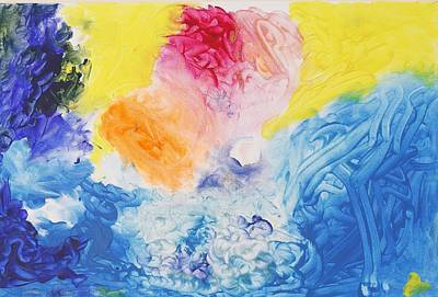 Painting - Abstract Heart by Contemporary Michael Angelo