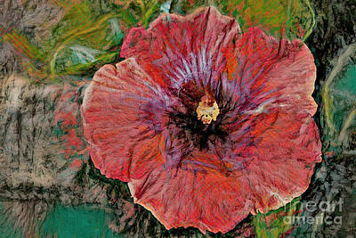 Painting - Abstract Hibiscus by Deborah Benoit