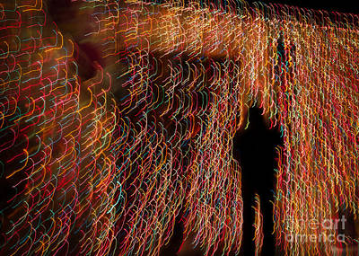 Photograph - Abstract Holiday Lights by Marianne Jensen
