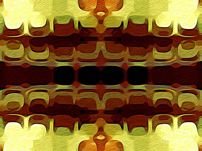 Abstract Horizontal Tiles - Harvest 1977 Art Print