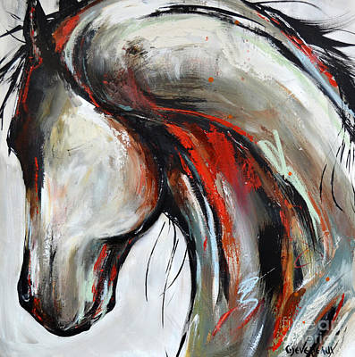 Painting - Abstract Horse 21 by Cher Devereaux