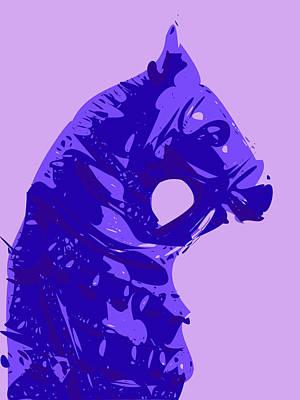 Teracotta Digital Art - Abstract Horse Doll Blue by Keshava Shukla
