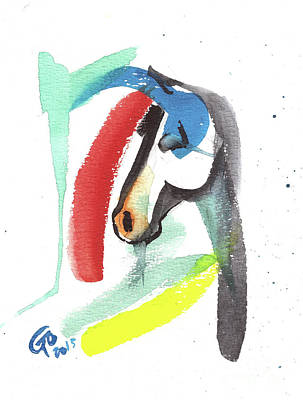 Painting - Abstract Horse by Go Van Kampen