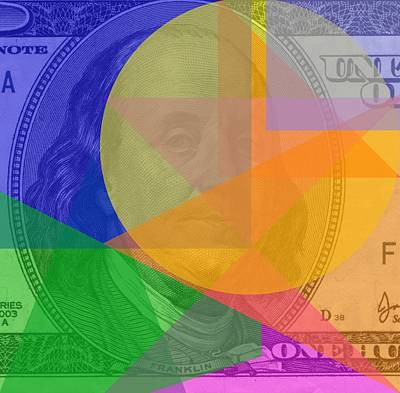 Abstract Hundred Dollar Bill Print by Dan Sproul