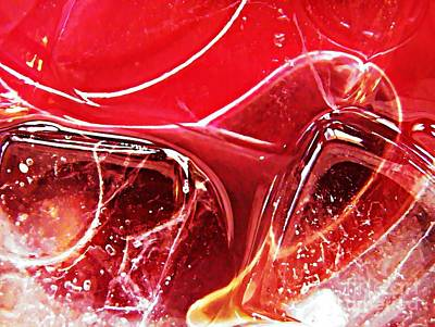 Photograph - Abstract Ice 13 by Sarah Loft