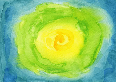 Lettuce Wall Art - Painting - Abstract Iceberg Lettuce by Kathleen Wong