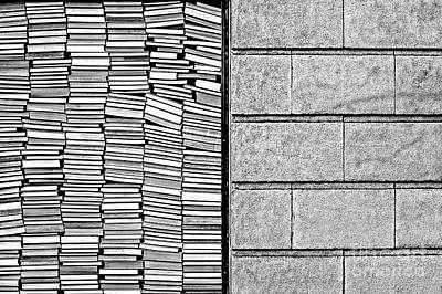 License Plate Skylines And Skyscrapers Rights Managed Images - Abstract Image of Stacked Books Royalty-Free Image by Jim Corwin