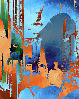 Abstract  Images Of Urban Landscape Series #1 Art Print
