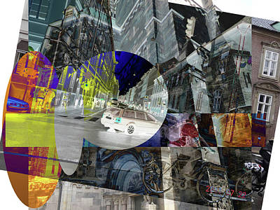 Digital Art - Abstract  Images Of Urban Landscape Series #16 by Jim Chaput