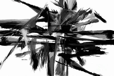 Digital Art - Abstract In Black And White 0722 by Rafael Salazar