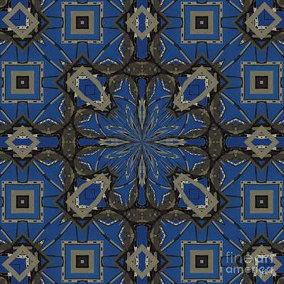 Photograph - Abstract In Blue And Gray by Lori Kingston