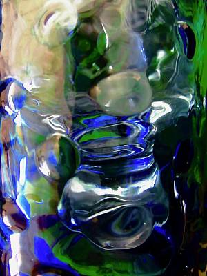 Photograph - Abstract In Blue And Green by Stephanie Moore