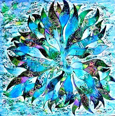 Digital Art - Abstract In Blue by Megan Walsh