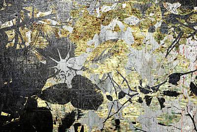 Mixed Media - Light Through Trees In Copper And Bronze by Tony Rubino