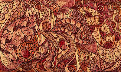 Digital Art - Abstract In Fall Colors by Megan Walsh