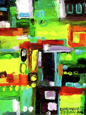 Bach Painting - Abstract In Green by Genevieve Esson