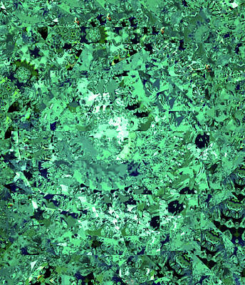 Digital Art - Abstract In Green No. 56-3 by Sandy Taylor