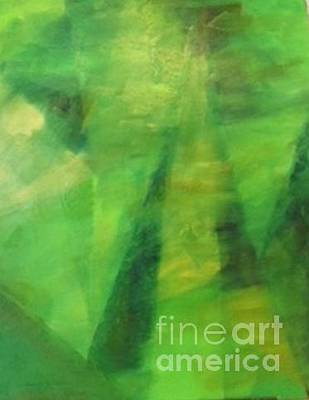 Painting - Abstract In Green, By Peter Carcia by Paul Galante