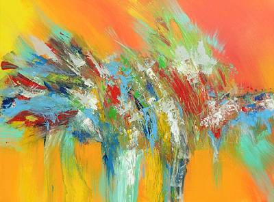 Painting - Abstract In Orange by Skye Taylor