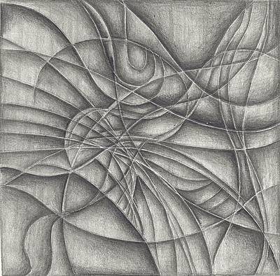 Abstract In Pencile Art Print by Karen Musick