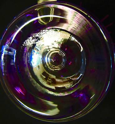 Photograph - Abstract In Purple And Gold by Stephanie Moore