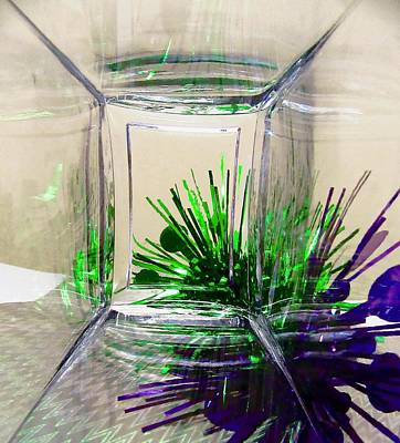 Photograph - Abstract In Purple And Green by Stephanie Moore