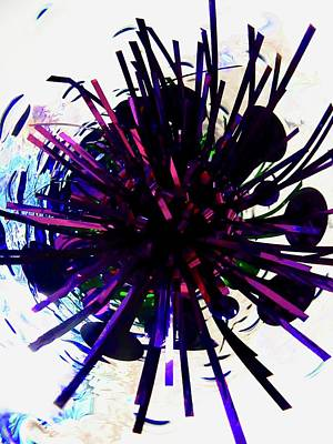 Photograph - Abstract In Purple by Stephanie Moore