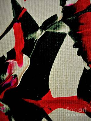 Painting - Abstract In Red And Black by Jacqueline McReynolds