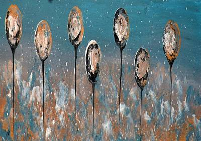 Painting - Abstract In Taupe, Chamoisee And Wheat by Tracey Harrington-Simpson