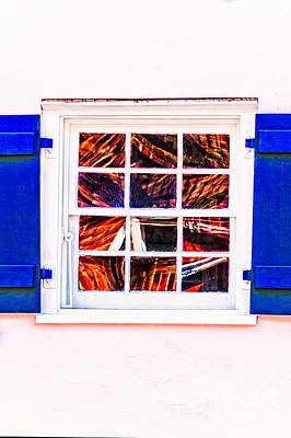 Photograph - Abstract In The Window by Frances Ann Hattier