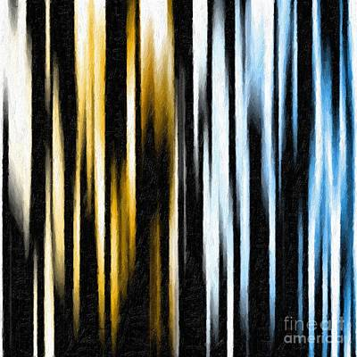 Digital Art - Abstract In Vertical Prose by Ed Churchill