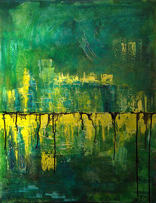 Painting - Abstract In Yellow And Green by Jocelyn Friis