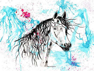 Painting - Abstract Ink - Black Arab Horse by Michelle Wrighton