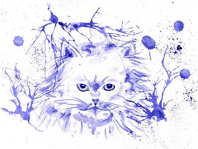 Painting - Abstract Ink - Purple Persian by Michelle Wrighton