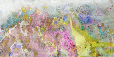 Mixed Media - Abstract Ink Swirls 5 by Peter V Quenter