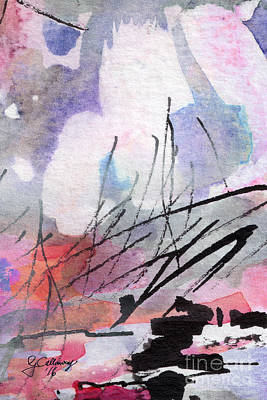 Painting - Abstract Intuitive 20161 Watercolor And Ink by Ginette Callaway