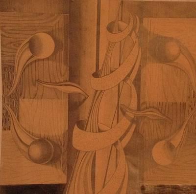Abstract Shapes Drawing - Abstract by Jim Mendocha