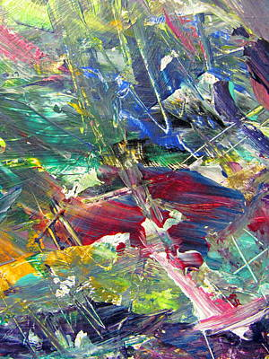 Painting - Abstract Jungle 10 by Anita Burgermeister