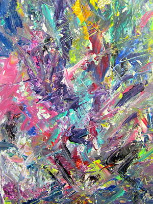 Painting - Abstract Jungle 11 by Anita Burgermeister