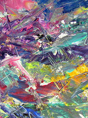 Painting - Abstract Jungle 6 by Anita Burgermeister