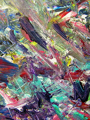 Painting - Abstract Jungle 7 by Anita Burgermeister