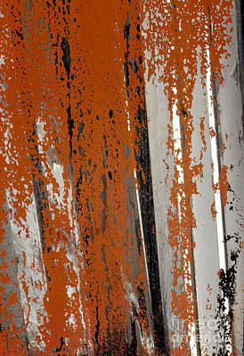 Photograph - abstract junk yard photographs - Painted Glass by Sharon Hudson