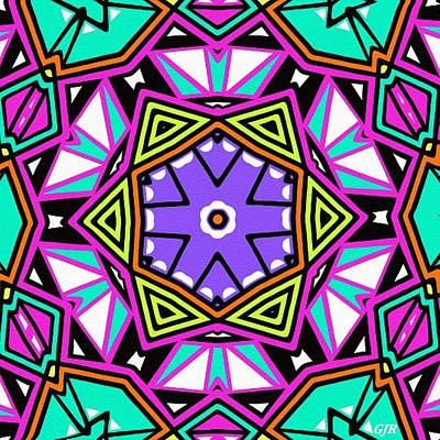 Design Turnpike Books - Abstract Kaleidoscope - Mandala Catus 1 No.1  L A S by Gert J Rheeders