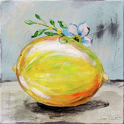 Painting - Abstract Kitchen Fruit 1 by Jean Plout