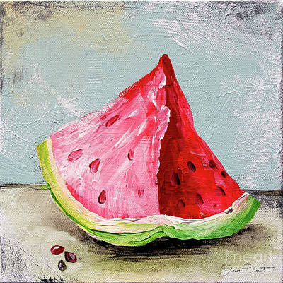 Painting - Abstract Kitchen Fruit 3 by Jean Plout