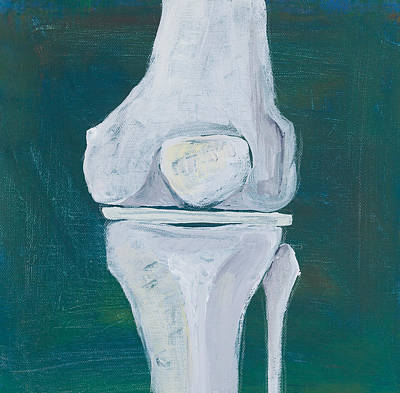 Osteopath Painting - Abstract Knee by Sara Young