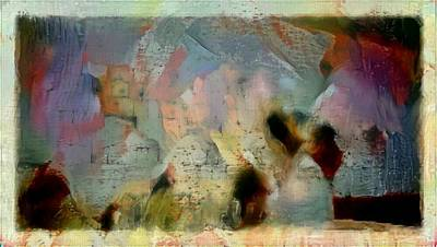 Digital Art - Abstract Kotel Western Wall Israel Holy Religious Painting by MendyZ